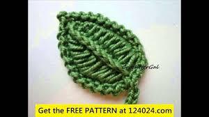 amigurumi leaf pattern free crochet leaf patterns youtube