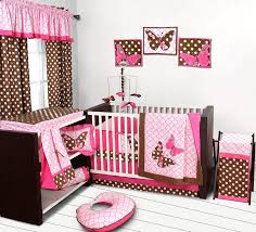Brown And Pink Crib Bedding Butterflies Pink Chocolate 10 Pc Crib Set Baby