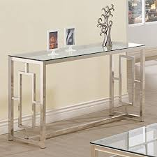 glass top sofa table amazon com console table for entryway glass top modern hall room