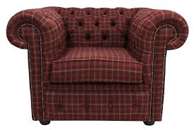 Tartan Chesterfield Sofa Tartan Wool Chesterfield Club Chair Designersofas4u