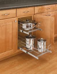 kitchen base cabinets 18 inch depth rev a shelf 9 inch two tier wire baskets 18 inch depth chrome 5wb2 0918 cr