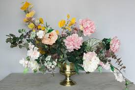 Fake Flower Centerpieces How To Make A Faux Flower Arrangement U2013 Afloral Com