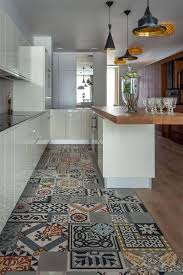 15 beautiful kitchens with patterned flooring to inspire you