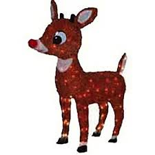 product works lighted rudolph outdoor decor 26 inch