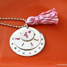 Personalized Stamped Necklace I Can Make Metal Stamped Jewelry Tutorials Tips Inspiration