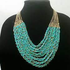 braided necklace images Jewelry turquoise beads braided necklace poshmark jpg