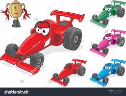 race car character cartoon race car varying stock vector 643223302