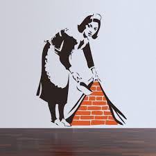 banksy maid london wall sticker home art decor for banksy maid london wall sticker home art decor for mural wallpaper decal
