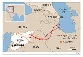 Map Of Syria And Russia War Game Changer Russia U0027s Launch Of Dozens Of Precision Cruise