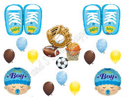 sports theme baby shower it s a boy sports theme baby shower balloons