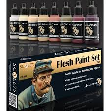 buy scale 75 flesh paint set at king games miniatures board