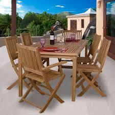 Patio 7 Piece Dining Set - shop international home amazonia rotterdam 7 piece teak patio