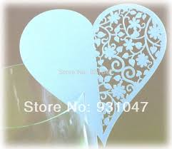 300 wedding party laser cut wine glass table paper place cards