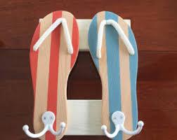 flip flop towel flip flop towel hook etsy