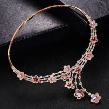 swarovski gold necklace crystals images China fashion xuping jewellery gold plated necklace with swarovski jpg