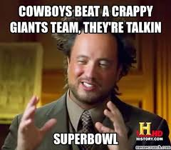 Giants Cowboys Meme - beat giants again