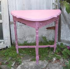 Half Circle Accent Table Reserved Half Moon Table Half Table Pink Half Circle Table