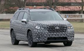 subaru van 2018 subaru ascent three row crossover spy photos u2013 news u2013 car and