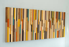 painted wood wall mid century wall reclaimed wood sculpture painted wood