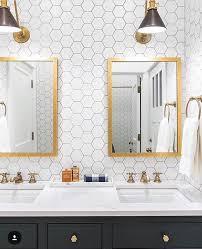 glam bathroom ideas the 25 best hexagon wall tiles ideas on