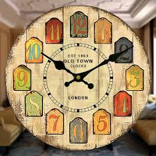 Large Shabby Chic Wall Clock by Online Get Cheap Kitchen Resin Wall Clock Aliexpress Com