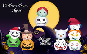 nightmare before christmas party supplies nightmare before christmas 11 tsum tsum digital clipart