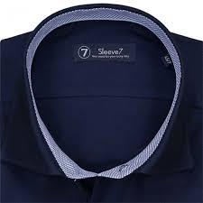 extra long navy blue dress shirt by sleeve7