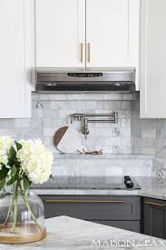 gray countertops with white cabinets gray and white and marble kitchen reveal maison de pax