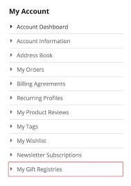 gift registry guide in creating gift registry