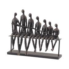 libra 357152 bench family sculpture