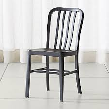 Black Metal Chairs Dining Metal Dining Chairs Crate And Barrel