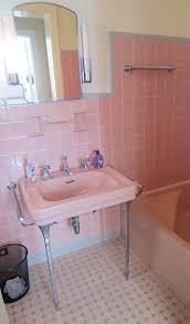 Pink Tile Bathroom Ideas Retro Pink Bathroom Livegoody