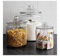 glass canisters kitchen decorative glass containers with lids decor