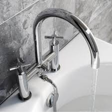 enki oxford cross handle design bath filler shower basin mixer enki oxford cross handle design bath filler shower