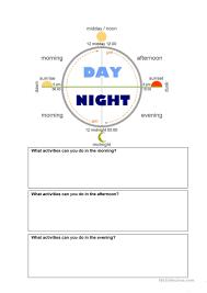 Categorizing Worksheets Time Of Day Worksheets Boxfirepress