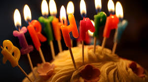 birthday cake candles wallpaper
