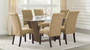 glass dining room sets glass top dining room table sets with chairs