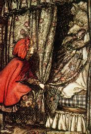 red riding hood drawing arthur rackham