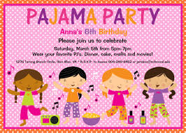 sleepover party invites pajama party birthday invitation sleepover birthday