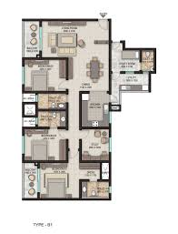 3 Bhk Apartment Floor Plan by Sobha Isle 3bhk Apartments For Sale In Vytilla Kochi
