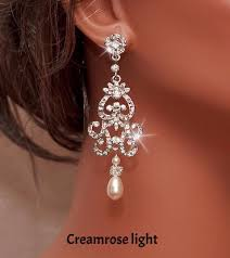 and pearl chandelier earrings best 25 bridal chandelier earrings ideas on deco