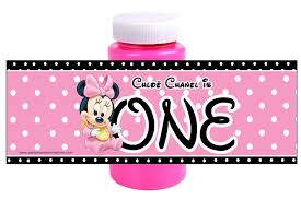 baby minnie mouse 1st birthday baby minnie mouse 1st birthday labels partyexpressinvitations