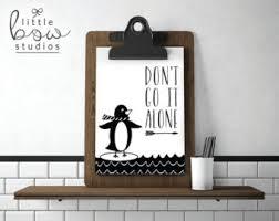 penguin quote etsy