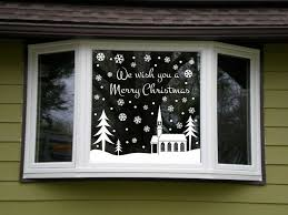 Outdoor Windows Decorating Christmas Window Decoration Ideas With Garlands Candles And