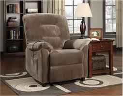 brown power reclining chair with massage led and cup cooler jimmy