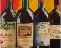 Anniversary Wine Bottles Caymus Wine Painting Caymus 40th Anniversary Wine Bottle With