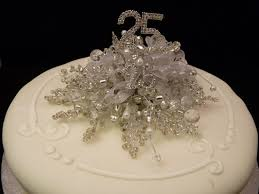 silver wedding cake decoration silver wedding cake topper