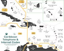 Caribbean Maps by Lincmad U0027s Caribbean Area Code U0026 Time Zone Map