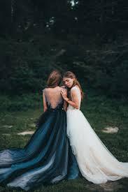 tulle wedding dress calypso nightfall black bridal gown