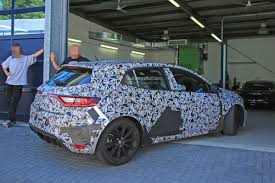2018 renault megane rs spied sharing garage with alpine a110